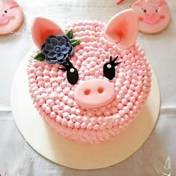 Bánh kem sinh nhật hình ảnh con lợn cực đẹp