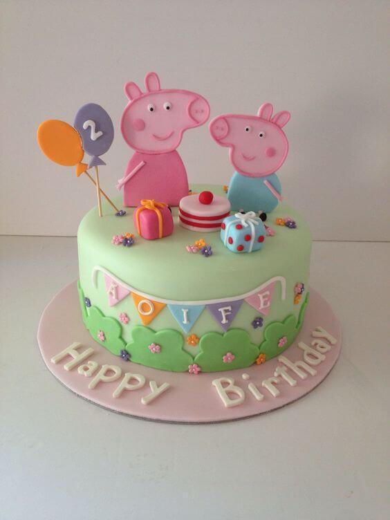 Bánh sinh nhật con heo cho người yêu thích Peppa Pig