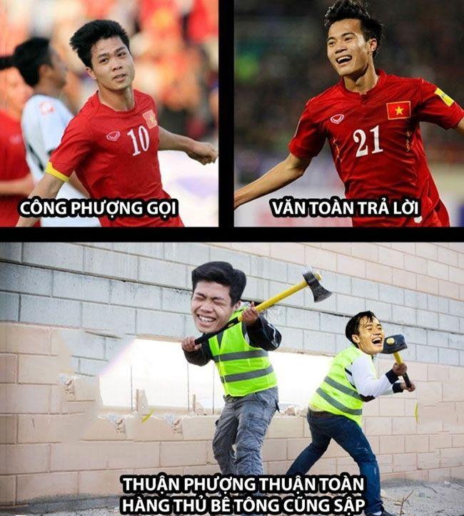 Hình anh hài hước về các cầu thủ bóng đá