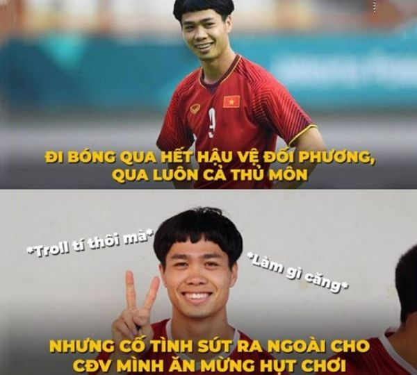 Hình ảnh vui hài hước của các cầu thủ Việt