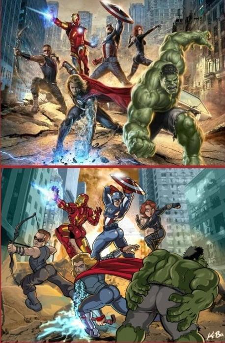 Những hình ảnh hài hước nhất trong phim Marvel