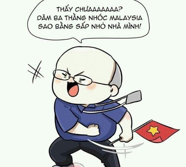 Những hình ảnh chế hài hước về HLV Park Hang Seo