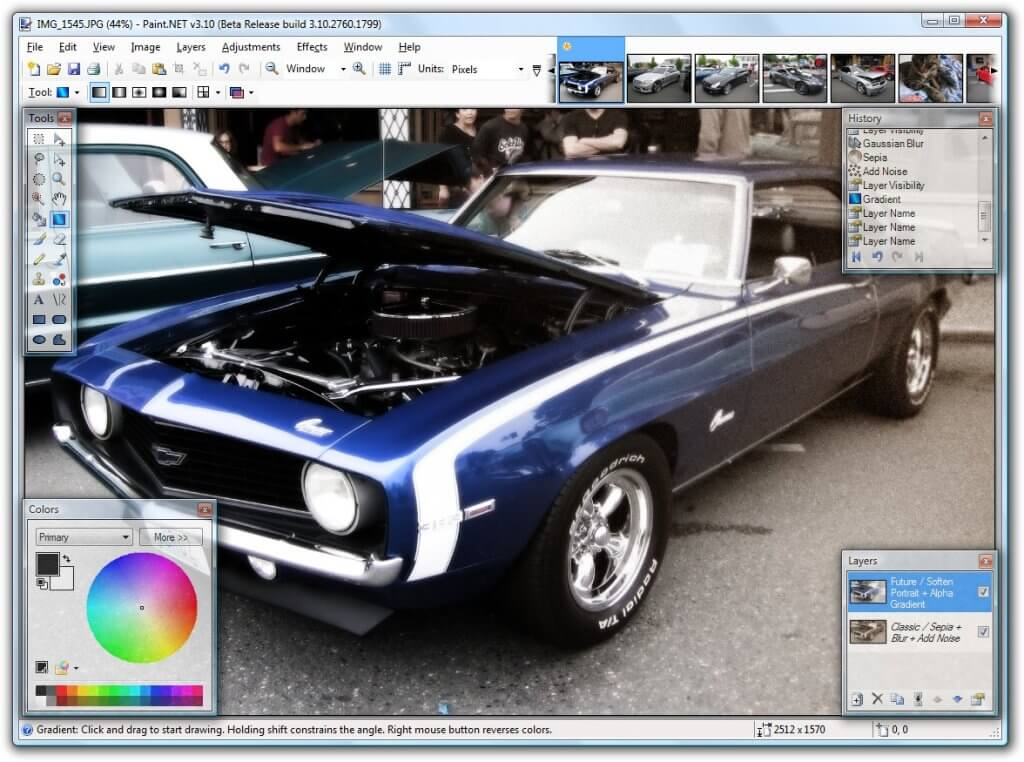 Phần mềm chỉnh ảnh trên máy tính miễn phí Paint.NET