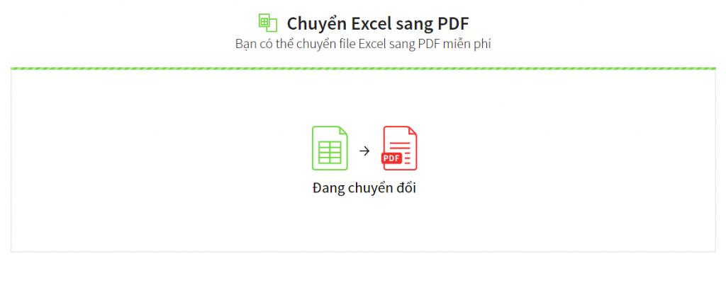 Quá trình chuyển file excel sang pdf trên web