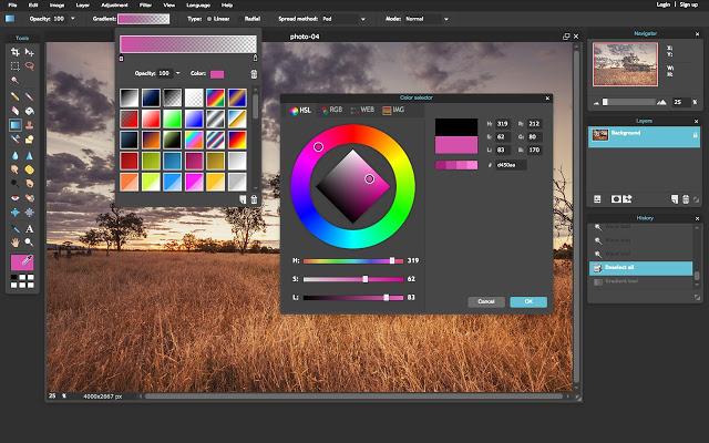 Sửa ảnh online miễn phí với Pixlr Editor