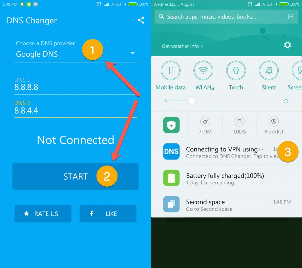 Thay đổi địa chỉ DNS tăng tốc mạng cho điện thoại Android