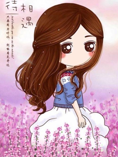 Anime girl đẹp nhất thế giới trên cánh đồng hoa
