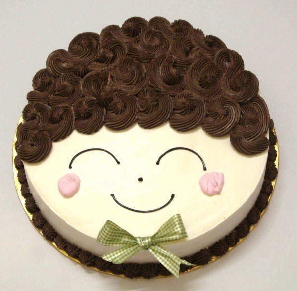 Bánh kem sinh nhật khuôn mặt cute dễ thương cực