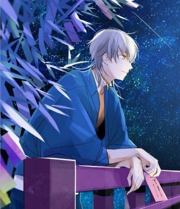 Hình ảnh anime ngầu của chàng trai đứng bên cầu