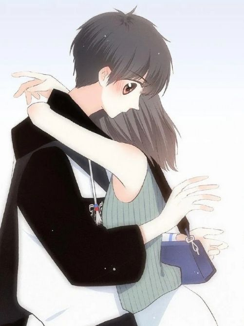 Nhung hinh anh dep ve anime cap doi om nhau
