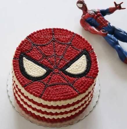 Xem bánh sinh nhật hình Spider man