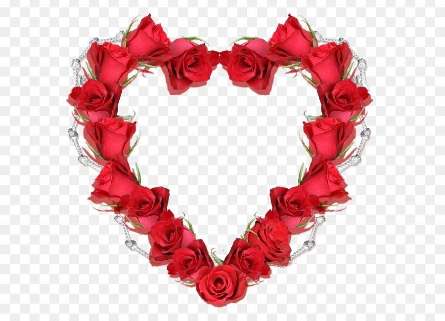 Hình khung đẹp có vòng hoa trái tim