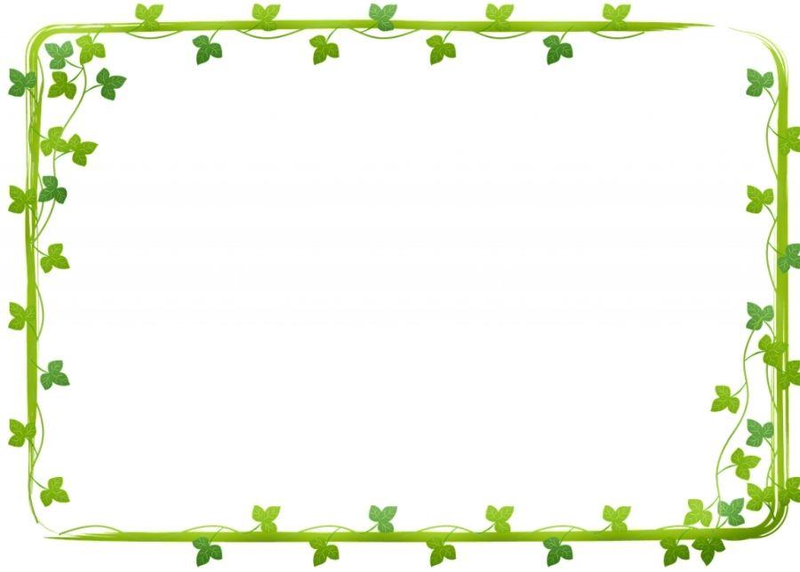 Khung hinh dep cho anh khung xanh hoa lá