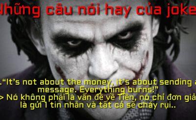 99+ Những câu nói hay của Joker bằng tiếng việt và cả tiếng anh