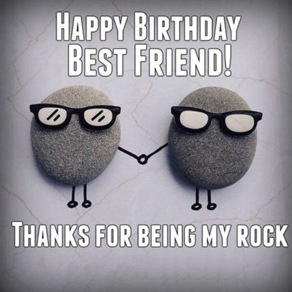 Ảnh độc chúc mừng sinh nhật với hai cục đá