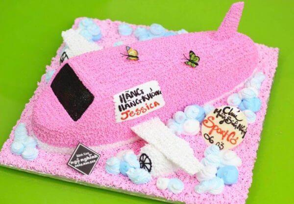 Bánh kem tạo hình dễ thương với máy bay làm ảnh sinh nhật