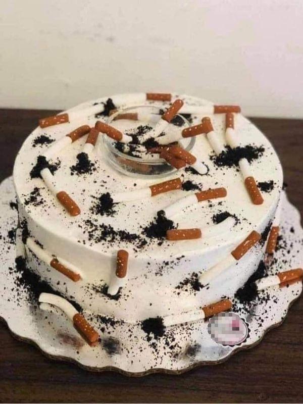 Hình ảnh hài hước chúc mừng sinh nhật cho những anh nam hay hút thuốc