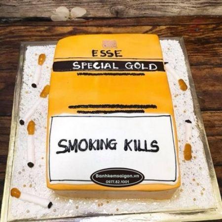 Hình ảnh hài hước sinh nhật về hộp thuốc lá