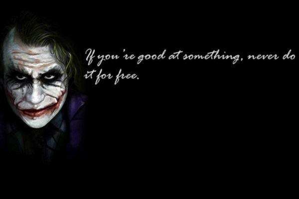 Những câu nói hay của Joker tiếng Anh