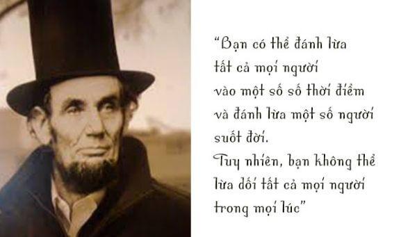 Các câu nói nổi tiếng của Abraham Lincoln