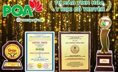 Các giải thưởng cao quý tưởng thưởng cho những đóng góp của Công ty PQA