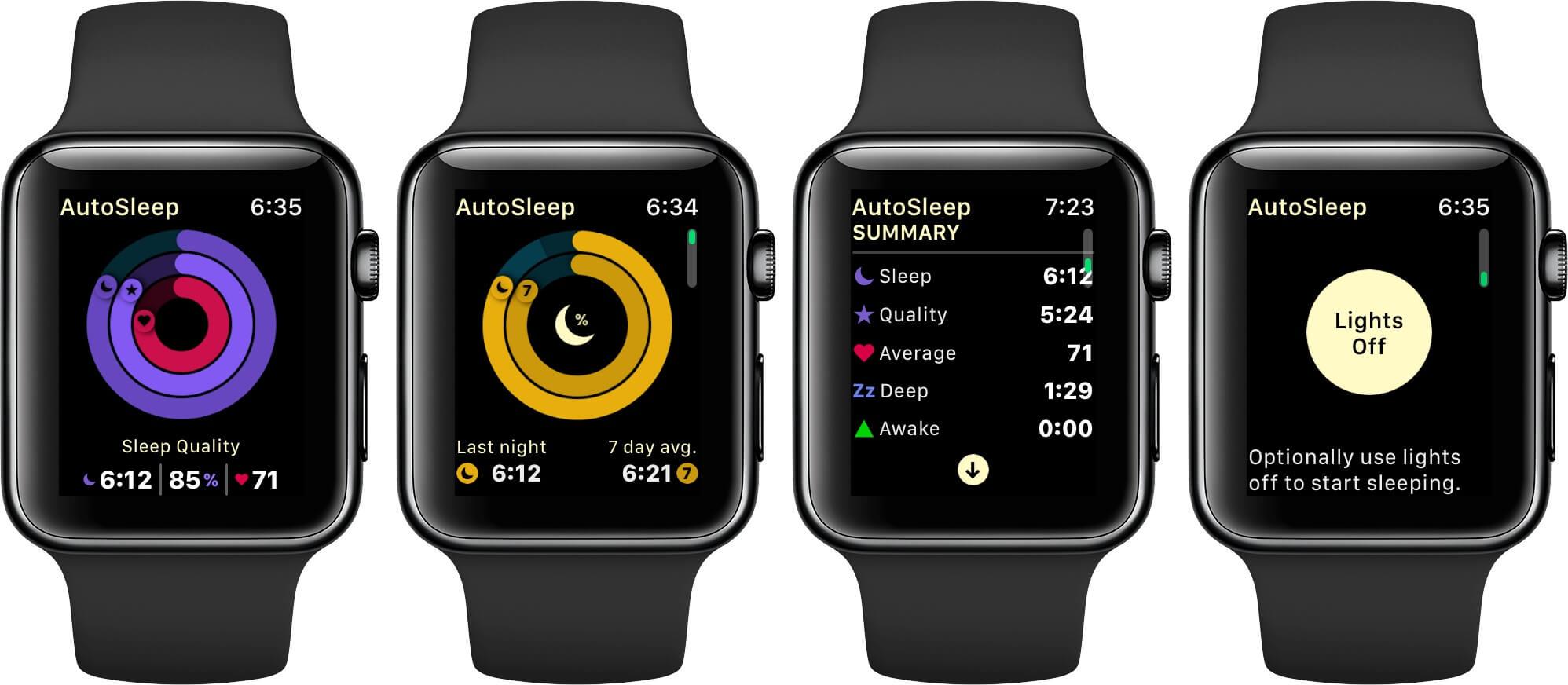Các Công cụ có sẵn trong Apple Watch S6- AutoSleep