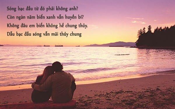 Câu nói về biển và tình yêu đôi lứa