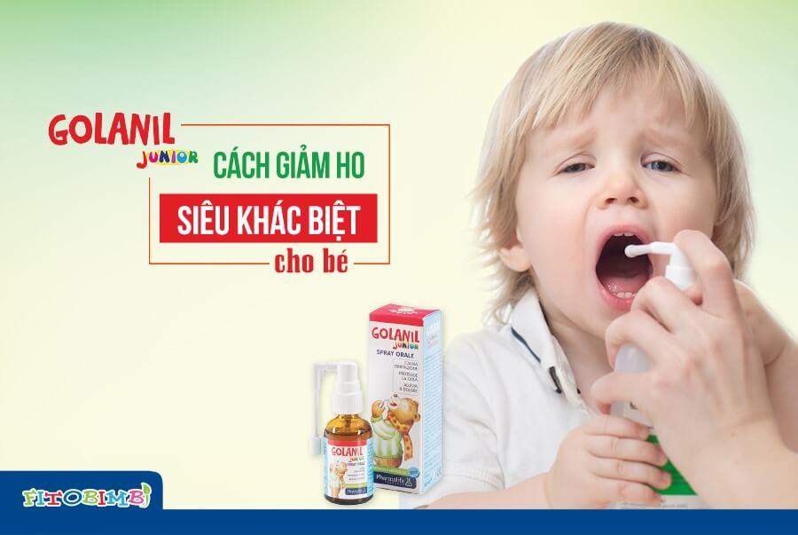 Xịt họng Golanil - bảo vệ cổ họng của trẻ khỏi những cơn ho